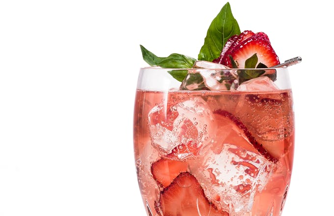Cointreau Strawberry Basil Rickey